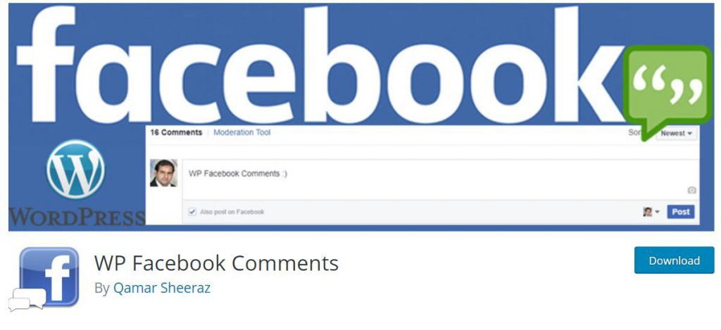 screen facebook comments z strony wordpressa