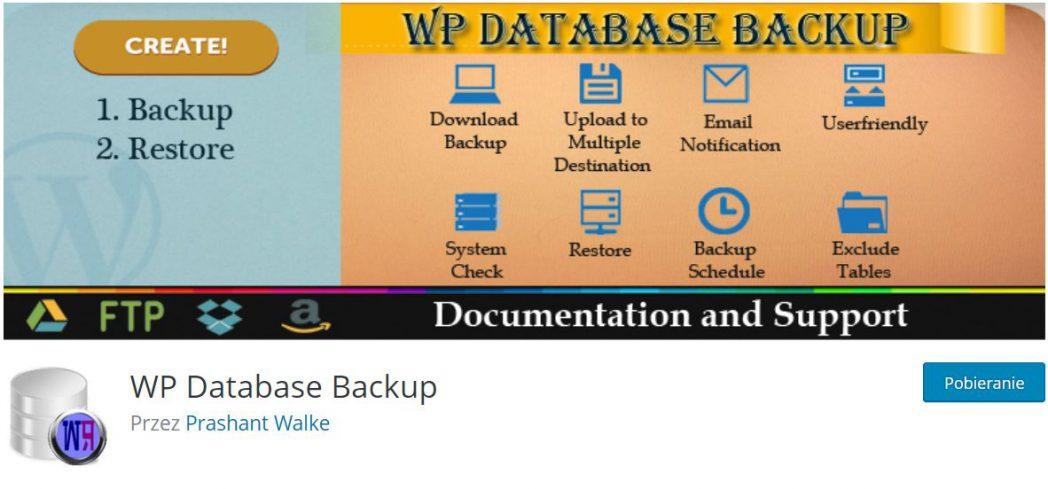 WP Database Backup wtyczka przydatna do automatyzacji wordpressa